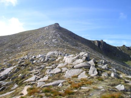 Looking back up at Goatfell