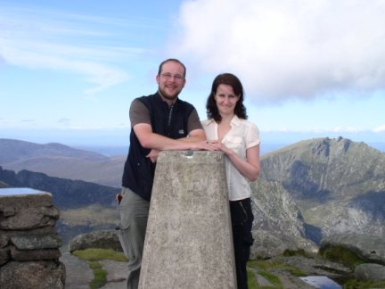 Me and Lisa on the summit of Goatfell