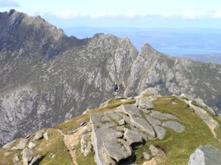 On the top of North Goatfell