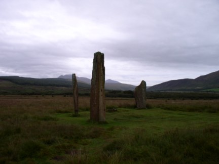 The large standing stone circle on Machrie Moor