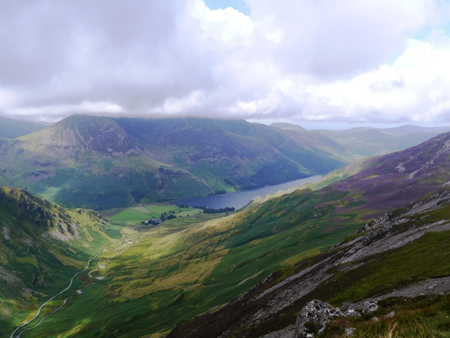 Looking down on Buttermere from Hindscarth Edge