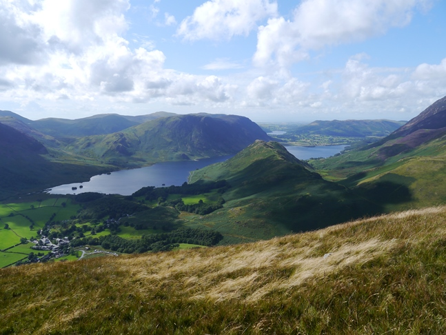 Rannerdale Knotts and Crummock Water from High Snockrigg