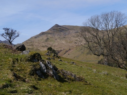 Gavel Pike from the start of the climb on to Hartsop Above How