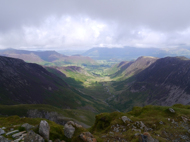 The Newlands Valley from the top of Dale Head