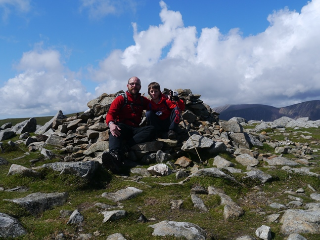By the summit cairn on Hindscarth