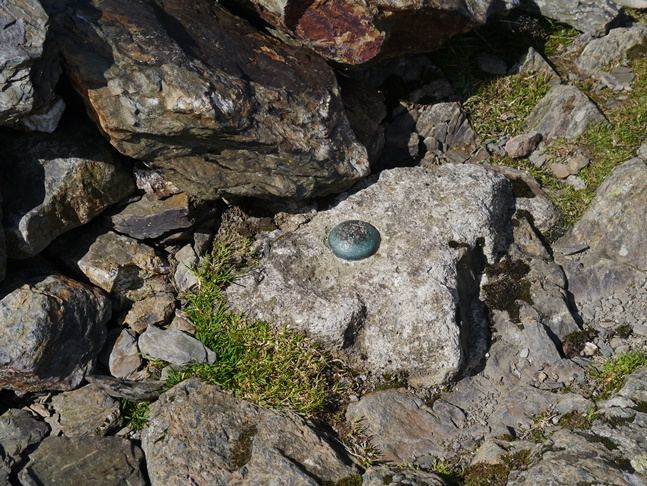 OS surface block by the summit cairn