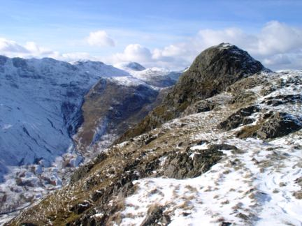 Pike O'Stickle, one of the famous Langdale Pikes