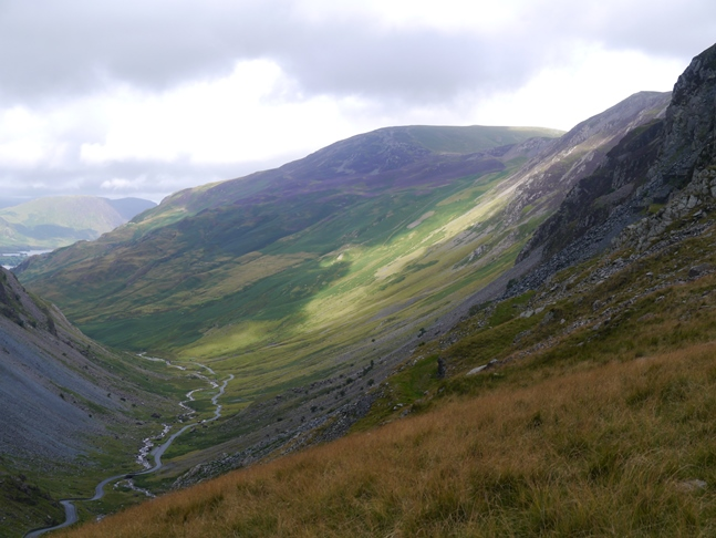Looking along Gatesgarthdale towards Dale Head