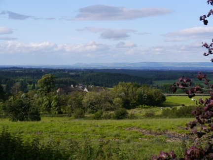Looking across the house at Birka Carr to the distant North York Moors