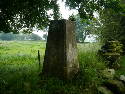 The trig point on Horsepasture Hill