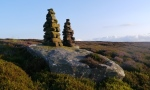 The Twin Standing Stones on Gollinglith Ridge