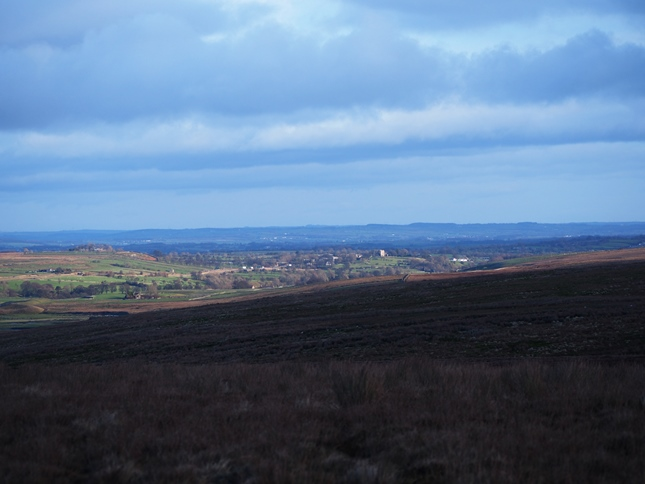 The view back towards Bowes Castle from Collinson's Hill