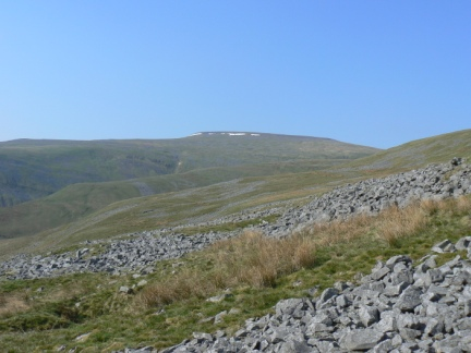 Looking back up to Cross Fell