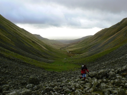 Looking back down the valley of High Cup