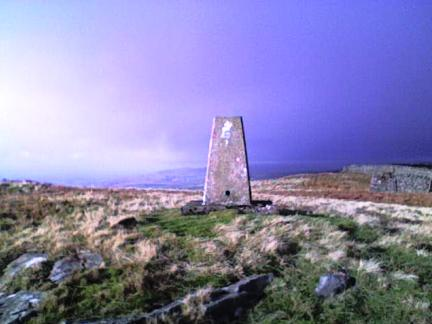 The trig point on Great Knipe
