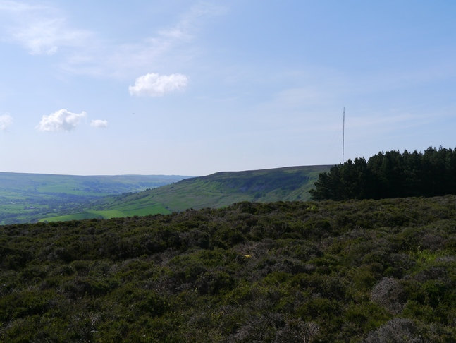 Looking towards the TV mast on Bilsdale Moor
