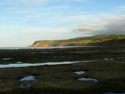 Looking across the bay towards Ravenscar