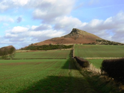 The distinctive shape of Roseberry Topping