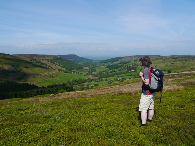 Enjoying the full length view of Scugdale from Barker's Ridge