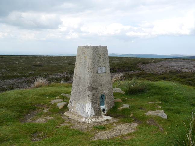 The trig point on the top of Urra Moor