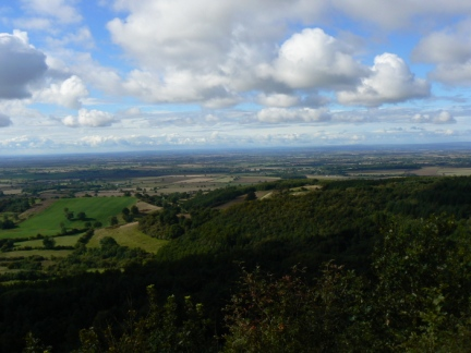 The Vale of Mowbray from Ivy Scar in the Hambleton Hills
