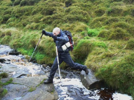 Matt crossing Yellowslacks Brook