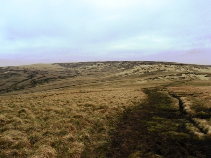 The typically bleak Dark Peak moorland of Black Hill