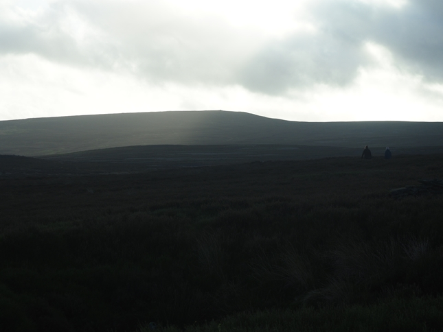 Looking across Midhope Moor to the cairn topped Pike Lowe