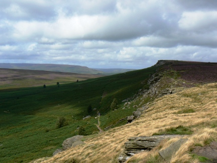 Looking north along Stanage Edge, one of the finest in the Peak District