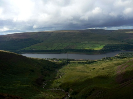 Torside Reservoir from Clough Edge