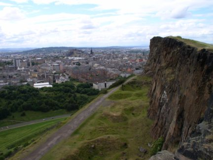Salisbury Crags below Arthur's Seat