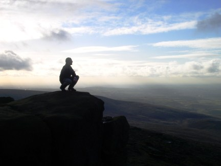 Enjoying the view from Blackstone Edge
