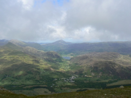 The view of Nantgwynant from the top of Moel Hebog