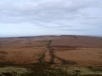 Looking back at Spitlers Edge and Great Hill