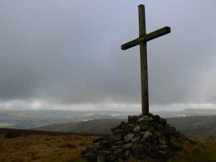 The cross mounted cairn on Whittle Hill