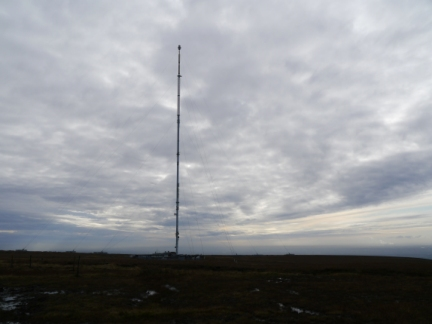 The main mast on Winter Hill